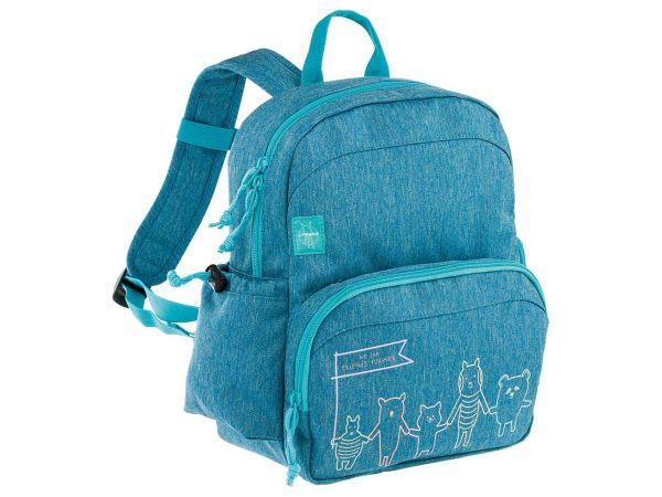 "Lässig Kindergartenrucksack ""About Friends"" Medium Backpack melange blue"
