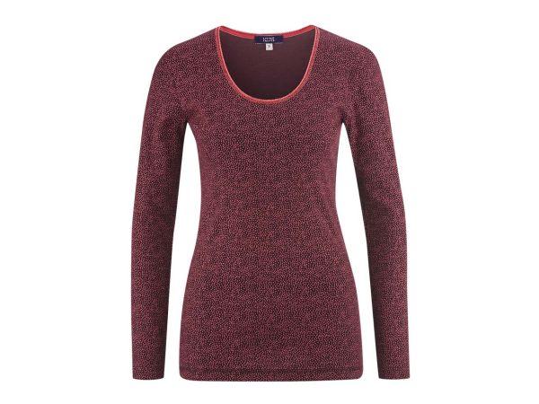 "Living Crafts Bio-Damen-Relaxshirt ""Chiara"" barolo gepunktet, Gr. XL"