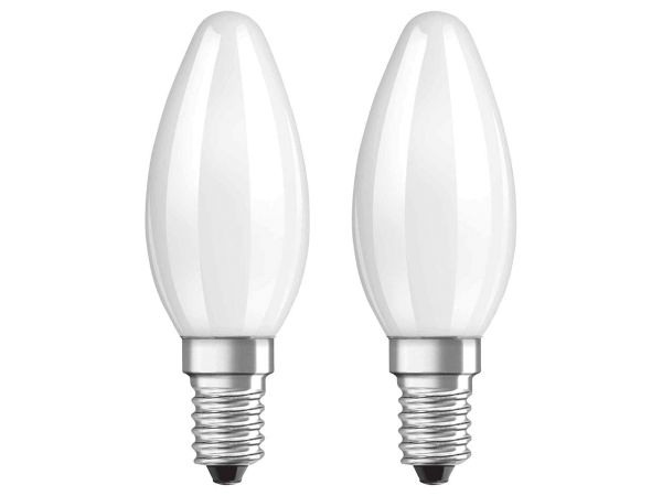 "2er-Pack OSRAM LED-Lampe ""Superstar Filament"" CLB 40, 4 W, E14, 470 lm, matt"