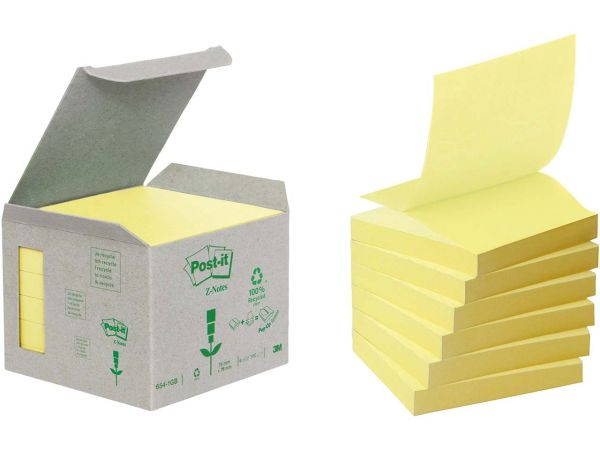 """3M Haftnotizen """"Z-Notes"""" mini Tower gelb 76 x 76 mm"""