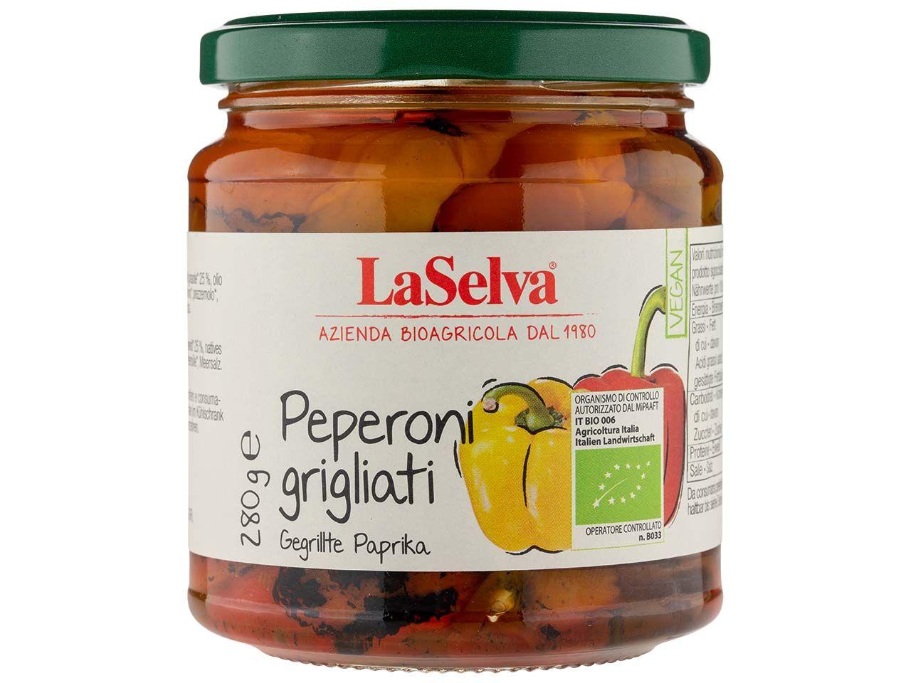 LaSelva Gegrillte Bio-Paprika in Öl, 280 g 170002557