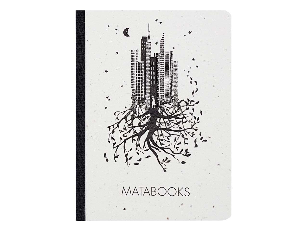 """Matabooks Notizbuch """"Luna"""" aus Graspapier mit Blumensamen SMB001"""