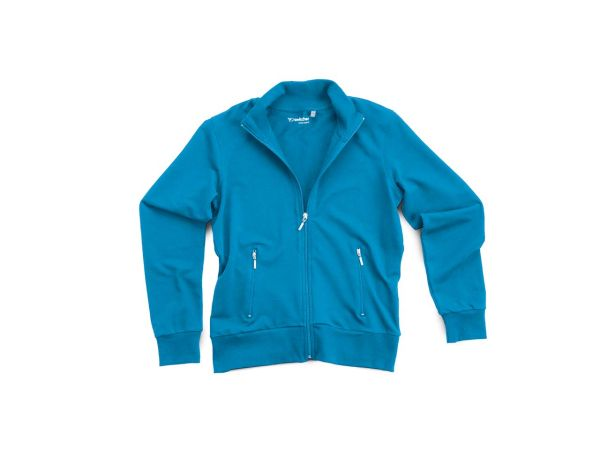 "switcher Damen-Sweat-Jacke ""Mia"" aus Bio-Baumwolle blau, Gr. XXL"