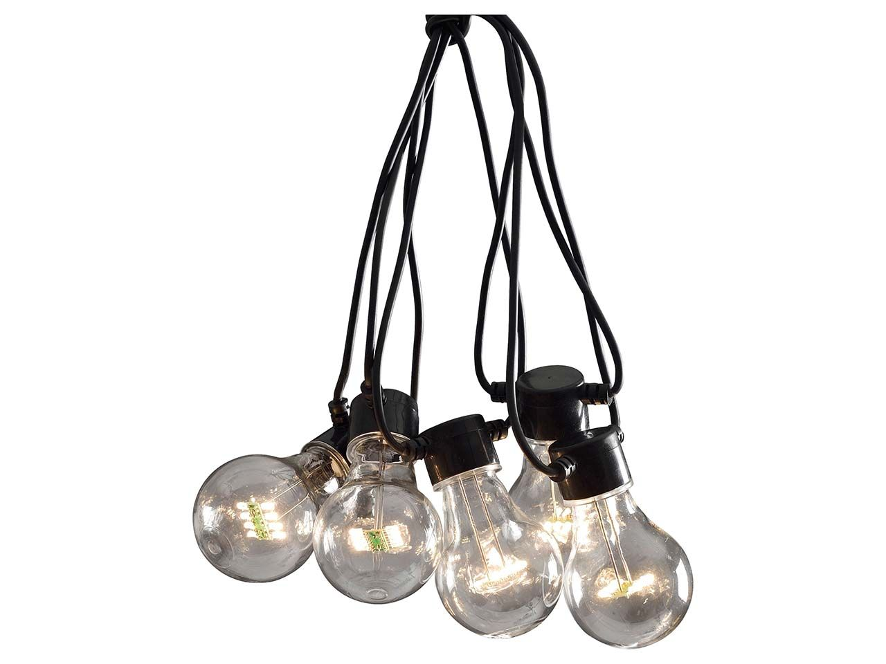 Konstsmide Erweiterung für klare LED-Lichterkette 24 V, 10 Birnen, 9 m 2399-100