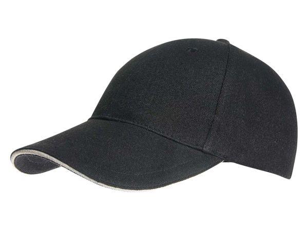 memo Baumwoll-Cap schwarz mit Metallverschluß aus Bio-Baumwolle mit Fairtrade-Siegel