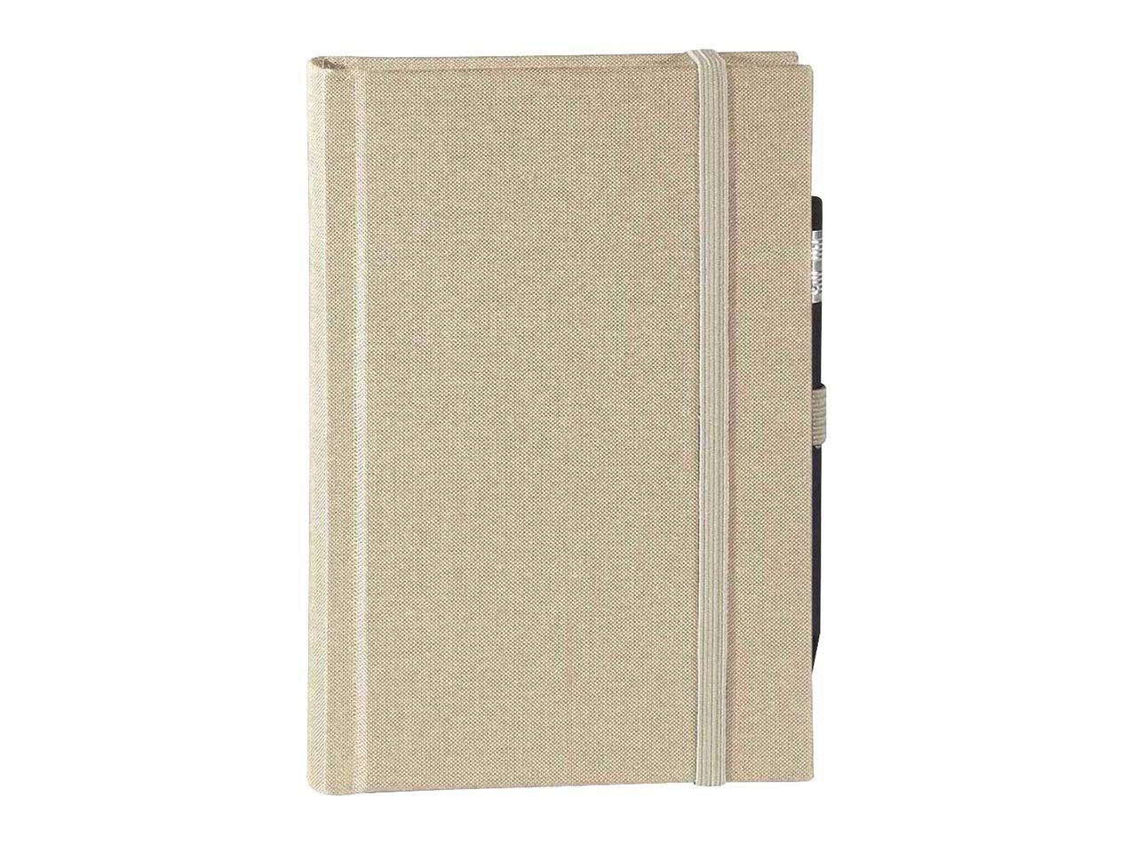 memo Skizzenbuch Leinen A5, (B 130 X H 202 mm) beige, 176 Seiten, Zeichenband,1 0165gar