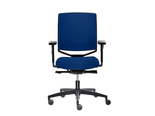 "Bürodrehstuhl ""my-self"" mit harten Rollen blau"