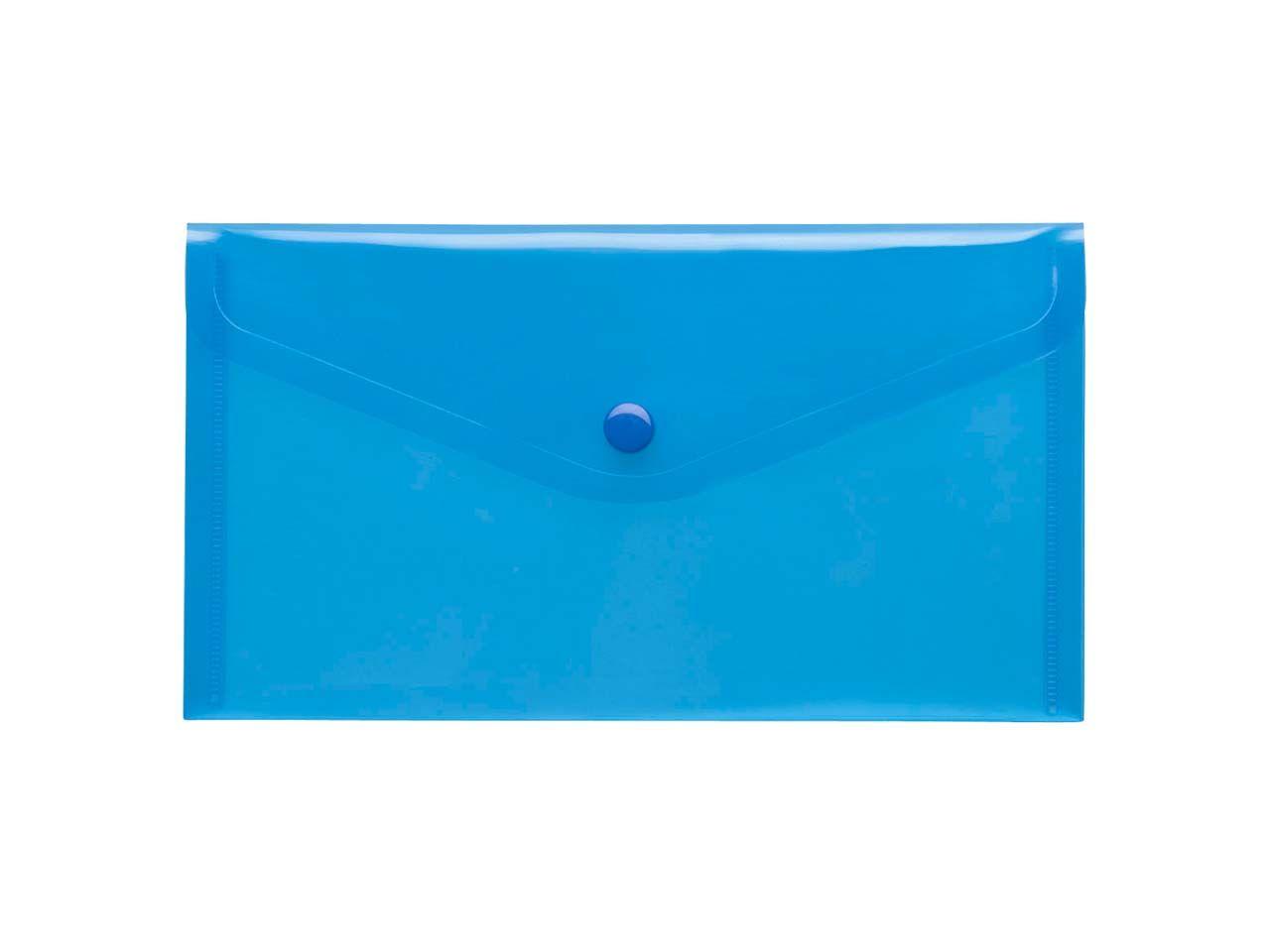 10 Sammelmappen f'r DIN lang transparent blau PP