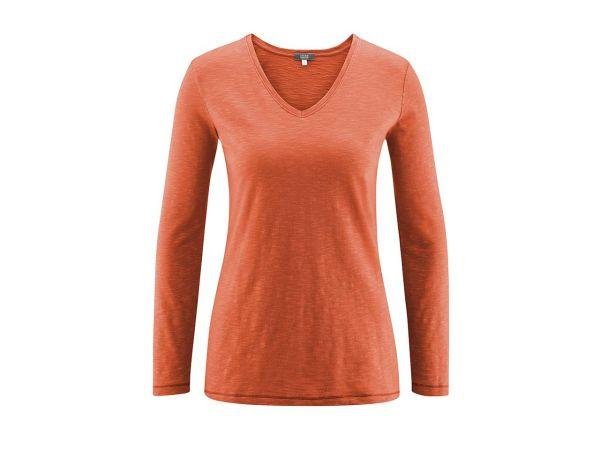 """Living Crafts Bio-Damen-Langarmshirt """"Dora"""" amber, Gr. XS"""