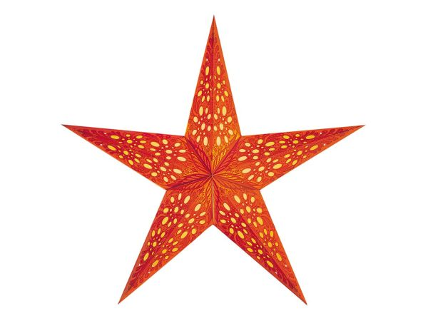 "earth friendly starlightz Papierstern ""Mono Small orange"" inkl. Verstromung"