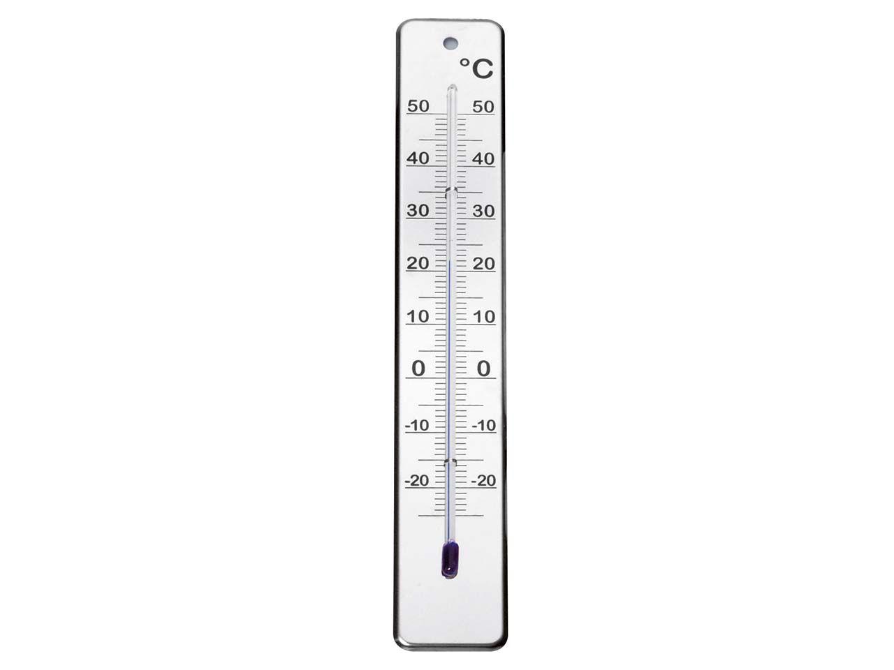 Thermometer für innen und außen aus Edelstahl 9439-02