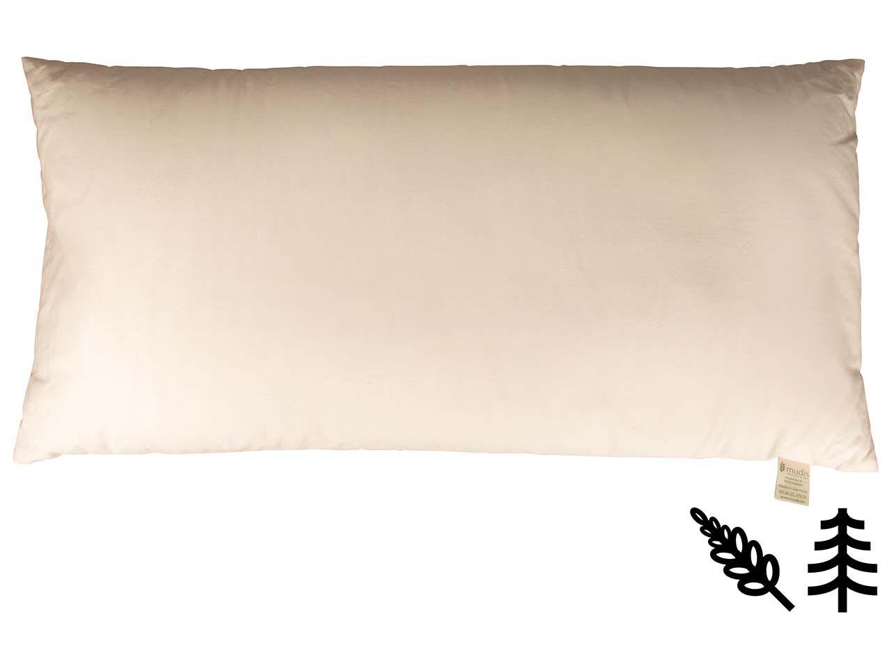 mudis Kopfkissen 40 x 80 cm Hirseschalen/Zirbenholz 10425-00
