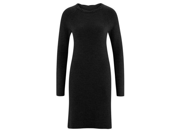 "Living Crafts Bio-Damen-Kleid ""Dottie"" schwarz, Gr. L"