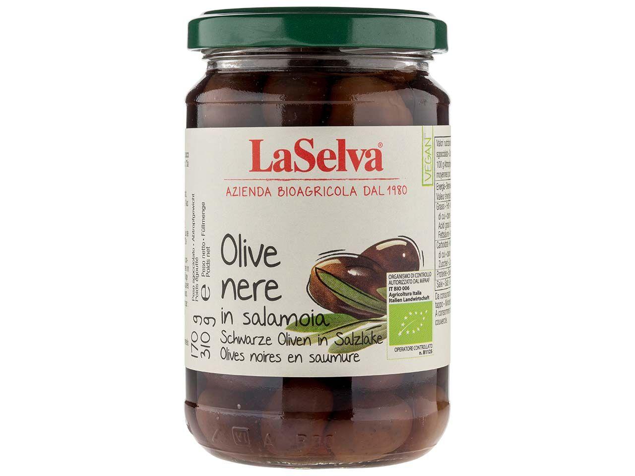 LaSelva Schwarze Bio-Oliven in Salzlake 310 g 170002515