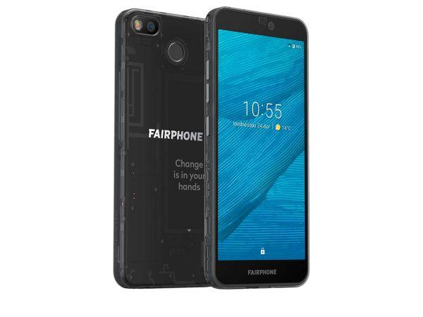 """Smartphone """"Fairphone 3"""" schwarz transparent, B-Ware, Zustand sehr gut"""