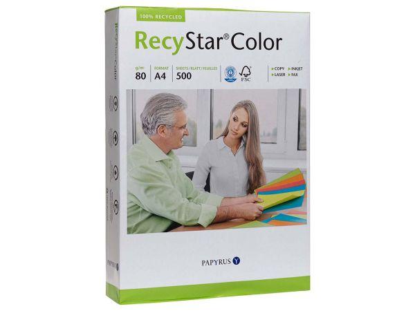 """500 Blatt Farbiges Recycling-Kopierpapier """"RecyStar Color"""" A4 canariengelb"""
